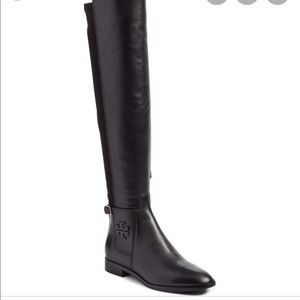Tory Burch Wyatt Over the Knee Leather Boots